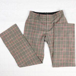 Women's Cub Monaco 100% Wool Plaid Trousers Pant 0